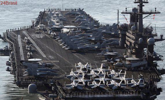 Sinal de força: EUA enviam porta-aviões para península norte-coreana