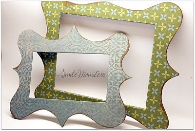 DIY frames for the fridge...i can't wait to make these...so awesome and easy and they would make great homemade gifts!
