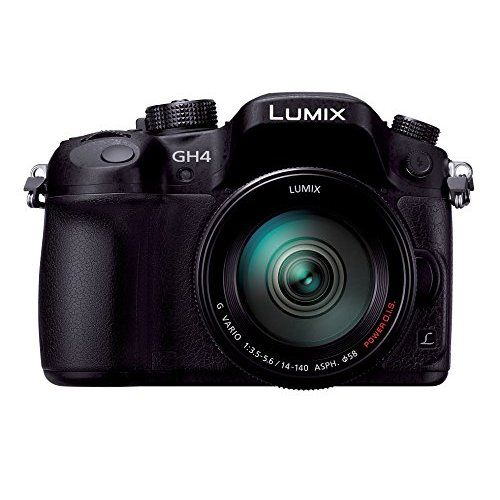 Panasonic mirrorless SLR Lumix GH4 lens kit standard zoom lens comes with black DMC-GH4H-K