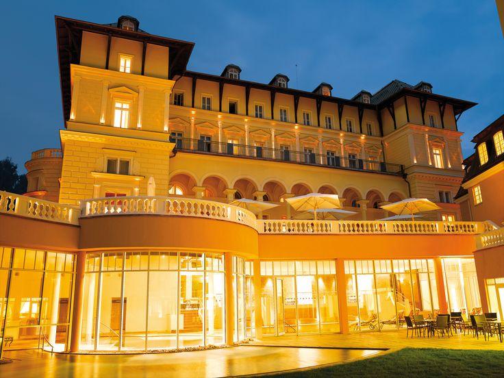 Hotel view by night     http://www.falkensteiner.com/en/hotel/marienbad