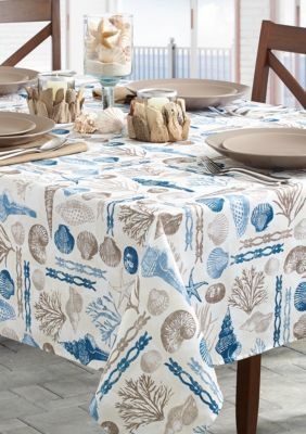 Benson Mills  Ocean Treasure Indoor/Outdoor Tablecloth 60-In. X 104-In. - Navy - One Size