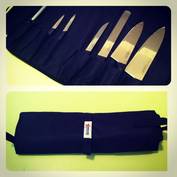 """For your aspiring chef boyfriend (you lucky thing!) -  Complete 8 piece knife set with knife roll. Includes 10"""" Chef, 8"""" Chef, 6"""" Boning, 10"""" Bread, 2 x 4"""" paring knives, honing steel and roll. via Nella Cucina"""