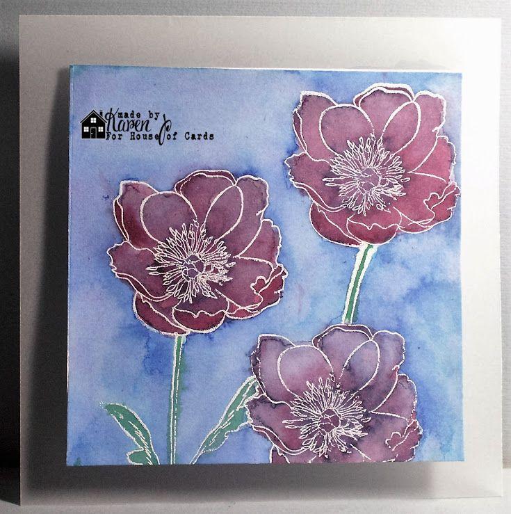 house of cards may challenge tim holtz flowers pinterest cartes and carte de souhait. Black Bedroom Furniture Sets. Home Design Ideas