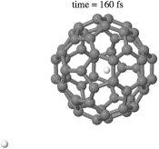 Meccanismo di respirazione-trappola per l'incapsulamento di idrogeno atomico in C60