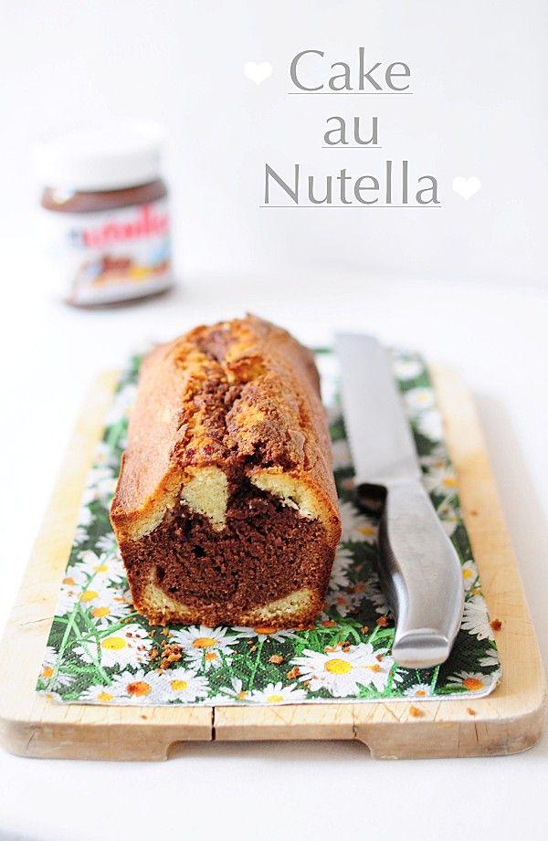 Cake marbré au nutella ♥  http://www.750g.com/recettes_gateau_marbre.htm  #nutella #chocolate #comfortfood #gateaumarbre