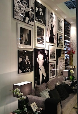 Photo wall with American Movie Stars...totally have my own wall of Audrey and Marilyn at my house