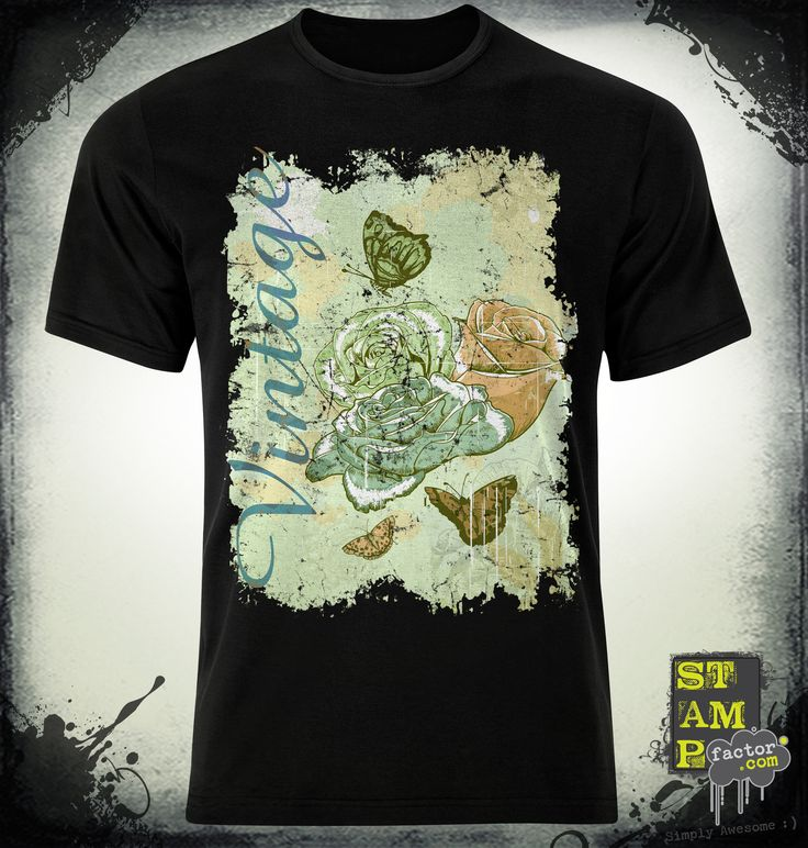 VINTAGE ROSES (Version 06) 2015 Collection - © stampfactor.com *T-SHIRT PREVIEW*