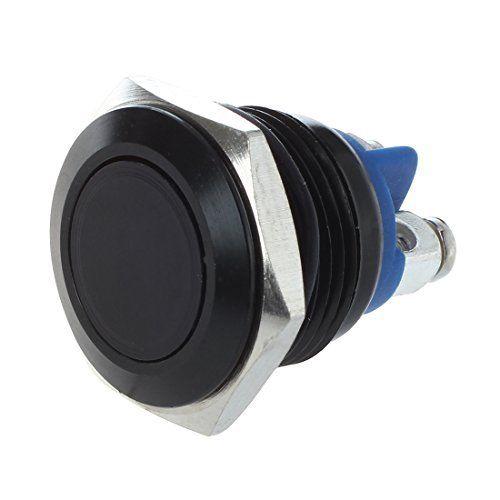 TOOGOO(R) Bouton Poussoir Interrupteur Noir 16mm 12V Pour Klaxon Voiture Auto: * TOOGOO est une marque deposee. SEULEMENT le vendeur…