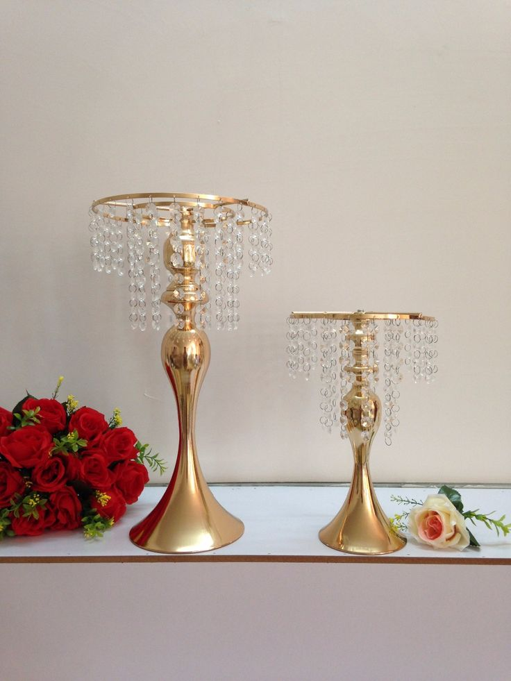Cheap Candelabra, Buy Quality Candelabra Lamp Directly From China Flower  Shell Suppliers: Small Size Gold Wedding Flower Vase Wedding Centerpiece  Table ...