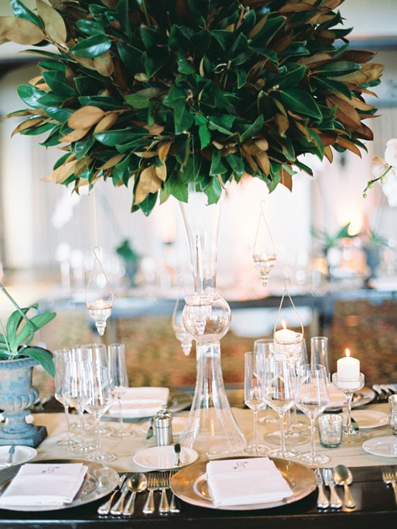 Elegant Santa Barbara wedding | photo by Linda Chaja | 100 Layer Cake Large room centerpieces