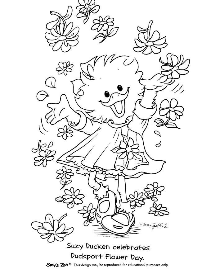 Suzy S Zoo Coloring Pages Suzy And Flowers Zoo Coloring Pages Suzys Zoo Coloring Pages