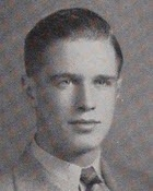 George Peppard's 1946 graduation photo from his Dearborn High School, Dearborn, MI yearbook.