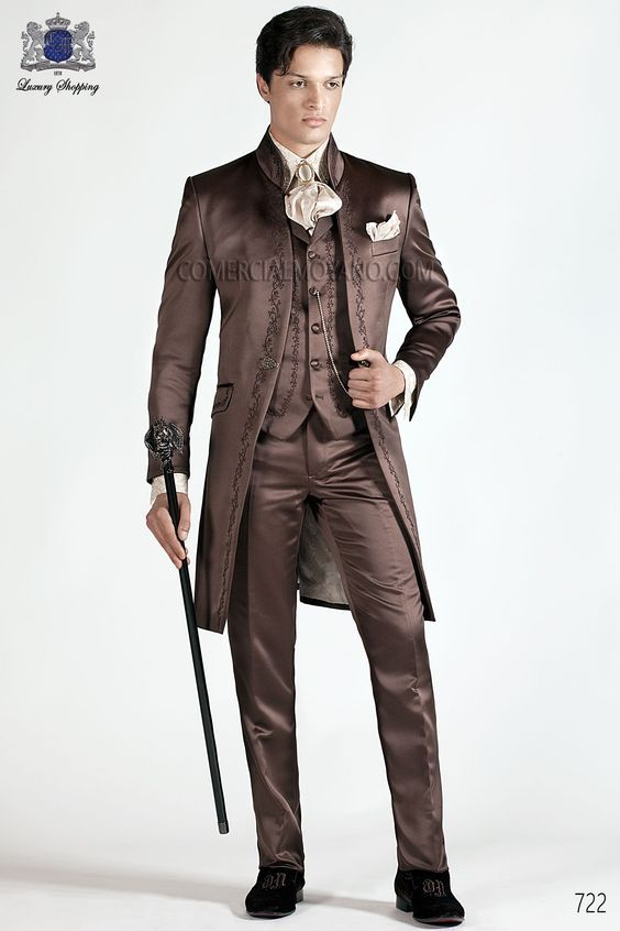 Cheap latest coat pant designs, Buy Quality 3 piece tuxedo directly from China tuxedo custom Suppliers: Latest Coat Pant Designs Italian Brown Embroidery Pattern Satin Men Suit Slim Fit 3 Piece Tuxedo Custom Prom Blazer Masculino