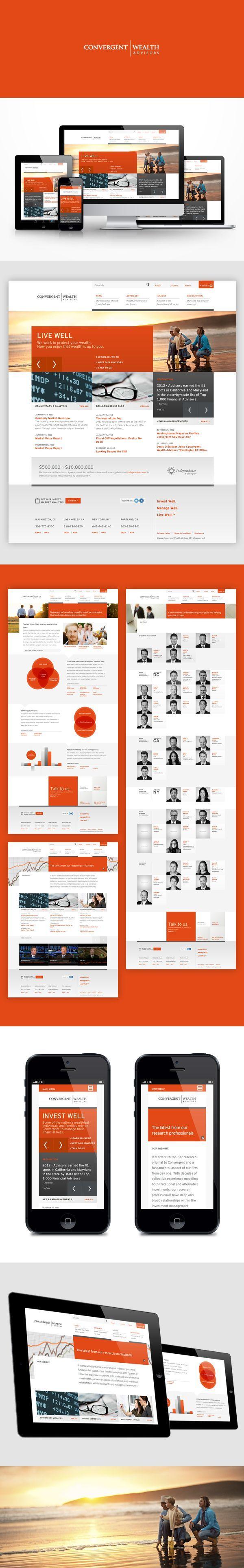 Convergent Wealth Advisors by Sun Yun, via Behance #webdesign: