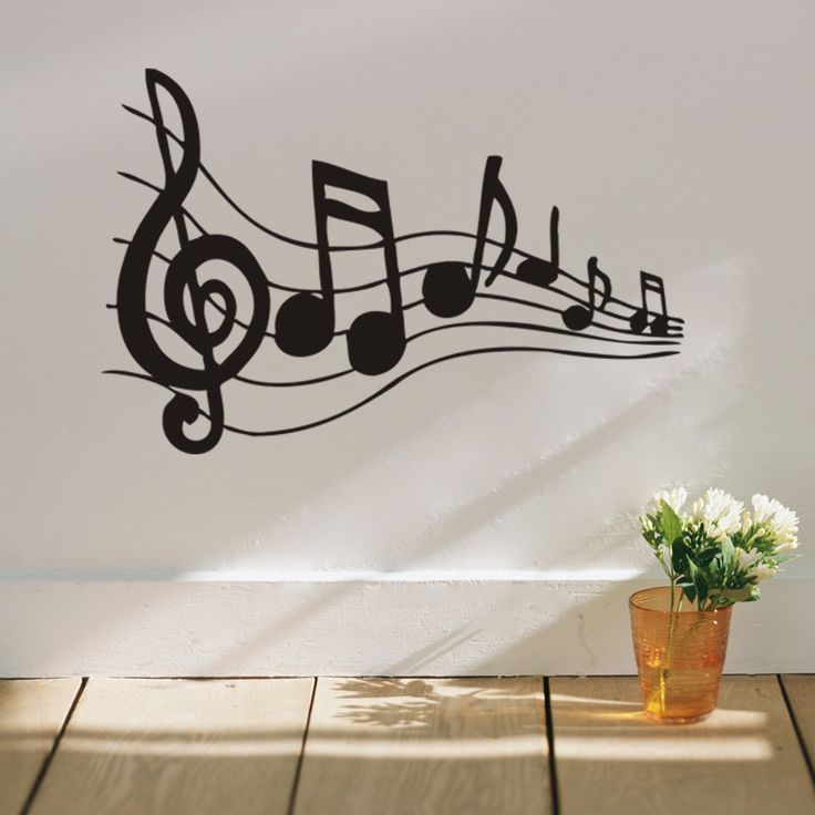 Note Music Wall Art Wall Stickers Black Music Decal Bedroom Wall  Decorations Stickers Home Decals Studio Part 81