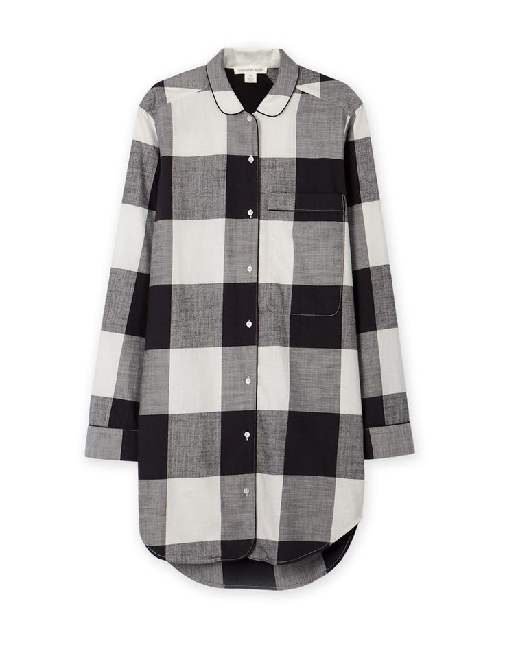 Woven Check Night Shirt
