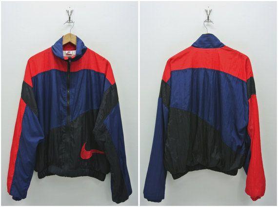 Hombres grandes Vintage de los años 90 Nike chaqueta por neverfull