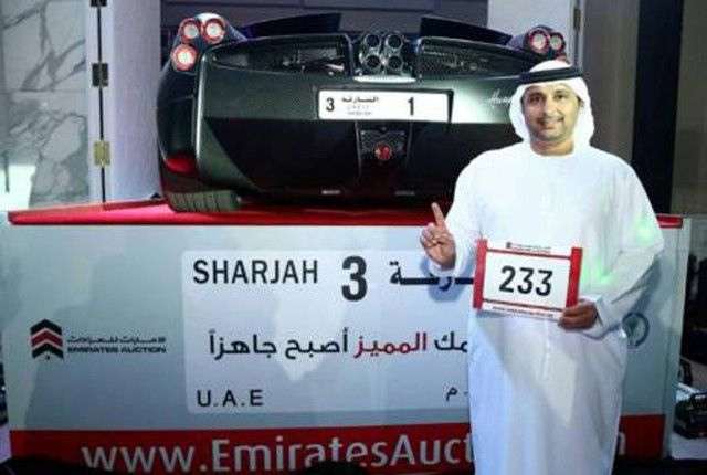 """Man pays almost $5 million for """"1"""" license plate"""