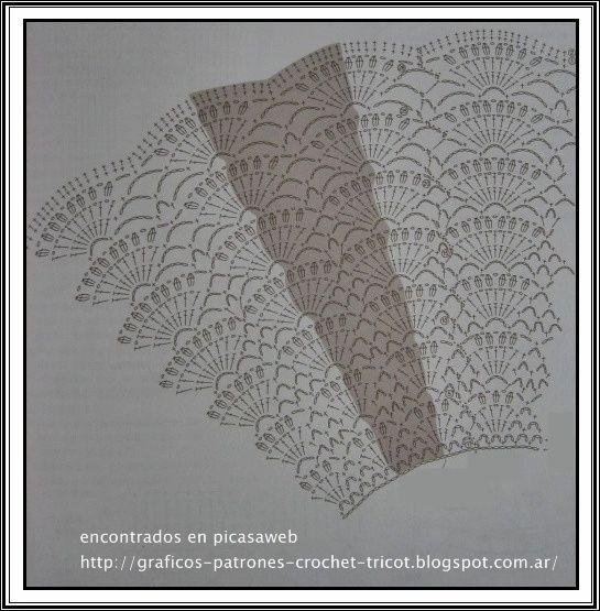 TEJIDOS A CROCHET - GANCHILLO - PATRONES: PONCHOS TEJIDOS AL CROCHET CON SU ESQUEMA = GANCHILLO