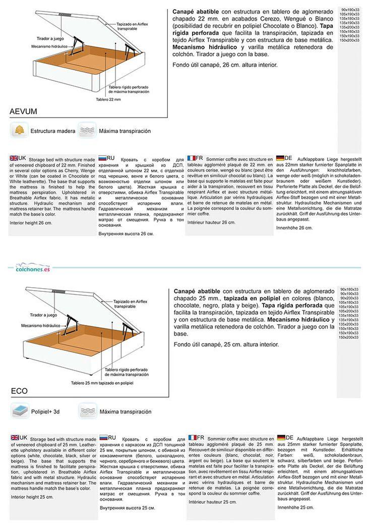 Canapé abatible Aevum y Canapé abatible Eco, ¡nuestros dos favoritos!