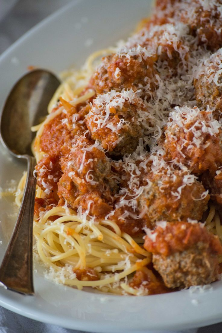 Make meatballs any day of the week with this streamlined technique by cooking the meatballs right in a simple tomato sauce.