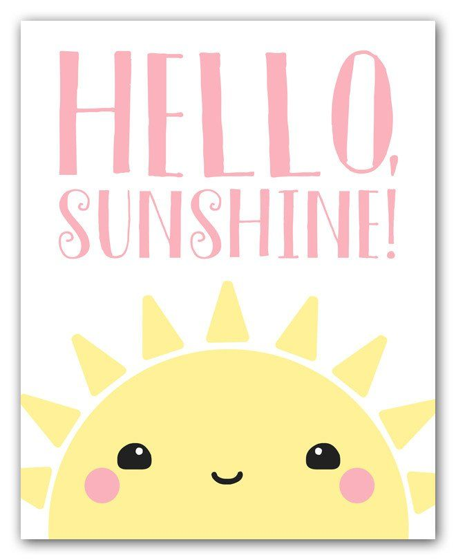 """Hello Sunshine!"" This kawaii-style art print features an adorable digital illustration of a sweet and happy rising sun. Use coupon code SAVE25 at checkout to receive a 25% discount on 2 or more print"