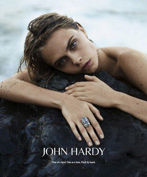 Cara Delevinge in John Hardy Jewelry FALL 2014