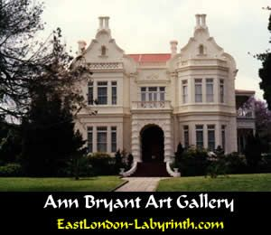 East London buildings - Anne Bryant Art Gallery - suburb of Belgravia - home to EL nouveau riche. Wealth in EL