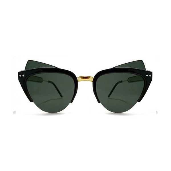 Spitfire Chelsea Mod Black/Gold Mirror Sunglasses (50 AUD) ❤ liked on Polyvore featuring accessories, eyewear, sunglasses, black, mirror lens sunglasses, gold mirror sunglasses, gold glasses, mod sunglasses and spitfire sunglasses