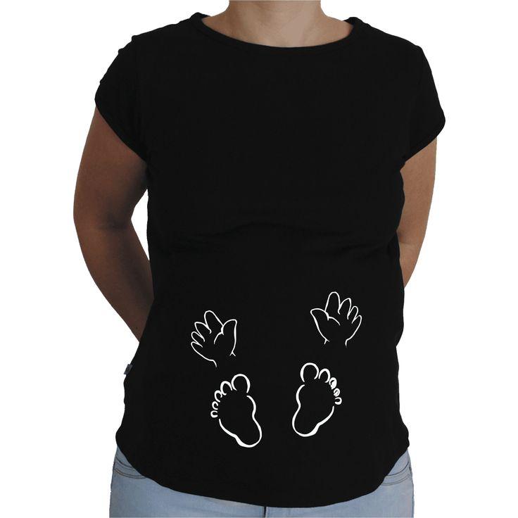 Camiseta para embarazada Divertida - Manos y pies.