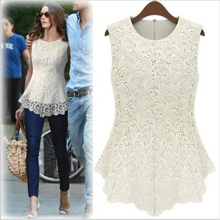 >> Click to Buy << New 2017 Women White Lace Blouses Sexy Plus Size Crochet Lace Tops Women Blusa casual Sleeveless Shirts S-5XL #Affiliate