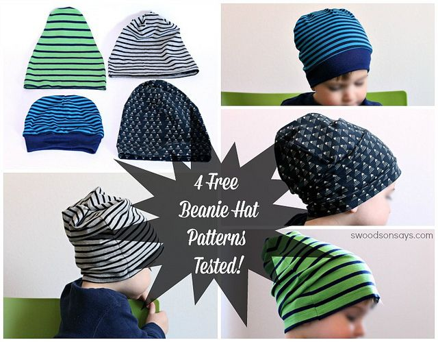 2bed82f76e2 4 Free Knit Beanie Hat Sewing Patterns - Tested!