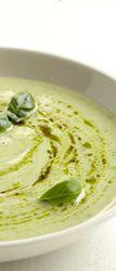 Courgettesoep met mascarpone en groene pesto - Colruyt Culinair !