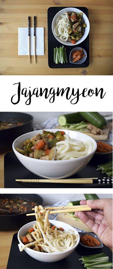 Receta de fideos coreanos con salsa de frijol negro de soya