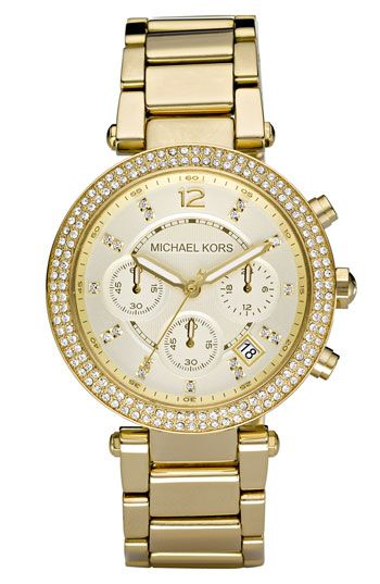 One Day Soon!Style, Chronograph, Kors Parker, Jewelry, Michael Kors Watches, Gold, Bracelets Watches, Michaelkors, Stainless Steel