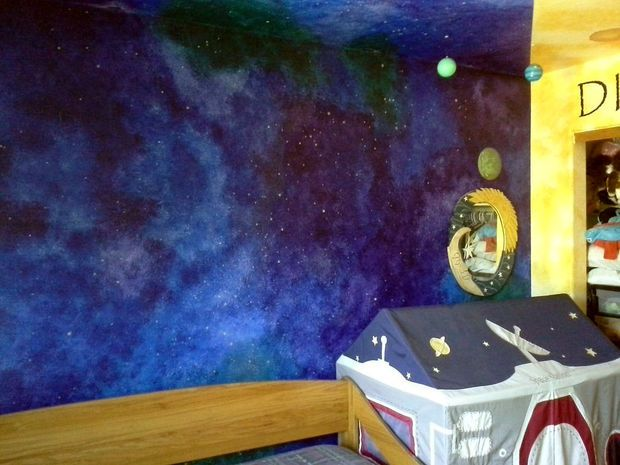 How to Paint a Star/night-sky Themed Nursery That Will ...