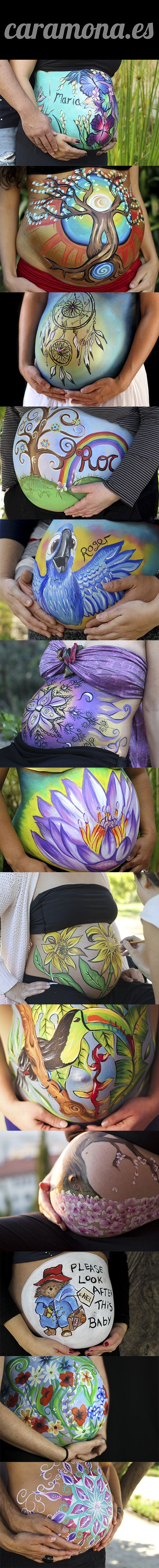 13 Belly painting ideas!!!!! Belly painting en Barcelona con @CaraMona_Bodypaint! Bodypaint para Embarazadas, pintura barriga para embarazada. Fotos embarazadas. Sesión de fotos para el embarazo Barcelona. Contacta Katie en www.caramona.es Wassap 645135188