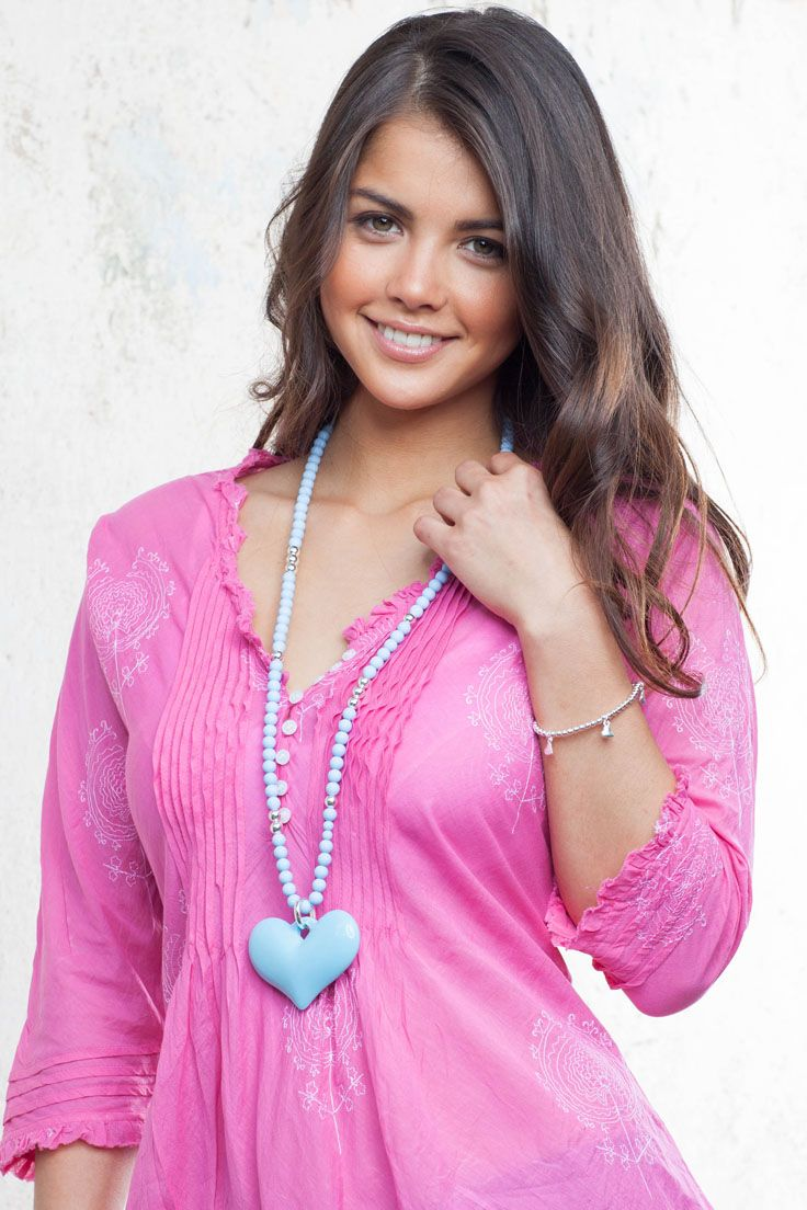 Blue heart necklace. Cheerful and eye catching our Blue heart necklace is simply charming - perfect this summer to brighten up any outfit. http://www.lucyandalice.com.au