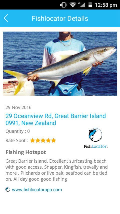 Great Barrier Island NZ Fishlocator app