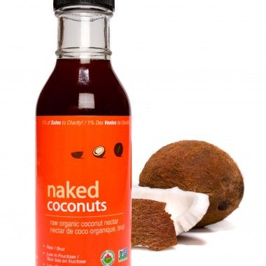 Raw Organic Coconut Nectar: the only low-glycemic AND low-fructose sweetener! Made from coconut sap it has a sweet, tangy, taste with no coconut flavour.