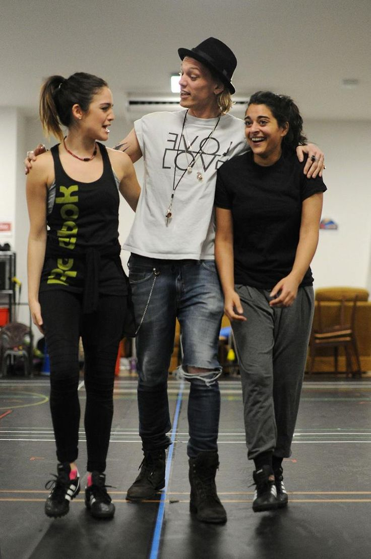 Jamie Campbell Bower Bend It rehearsal