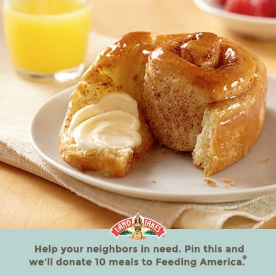 Pin to fight hunger. The Land O'Lakes Foundation will donate $1 to Feeding America for every recipe pinned through April 30, 2015 for a guaranteed maximum of $350,000. (Pin any Land O'Lakes recipe or submit any recipe pin at LandOLakes.com/pinameal).