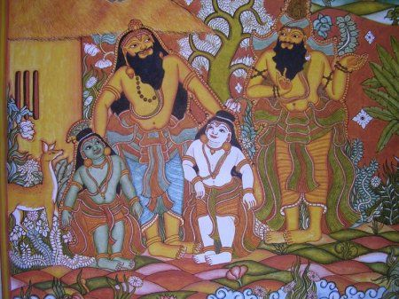 1000 images about kerala mural art on pinterest hindus for Asha mural painting guruvayur