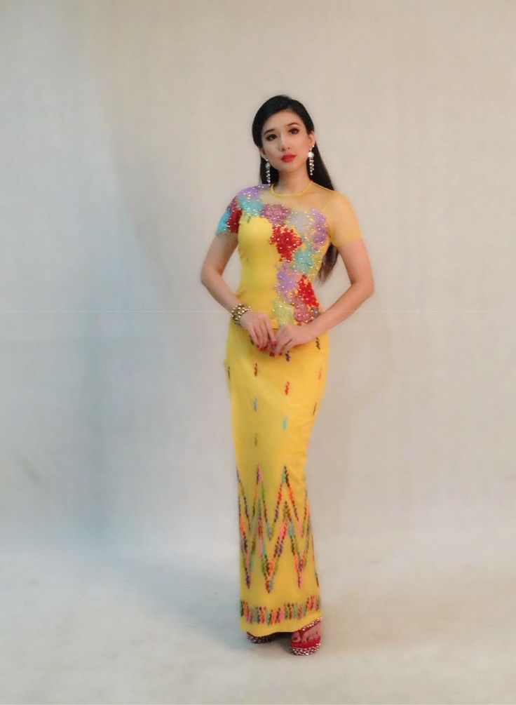 Yellow Myanmar Dress