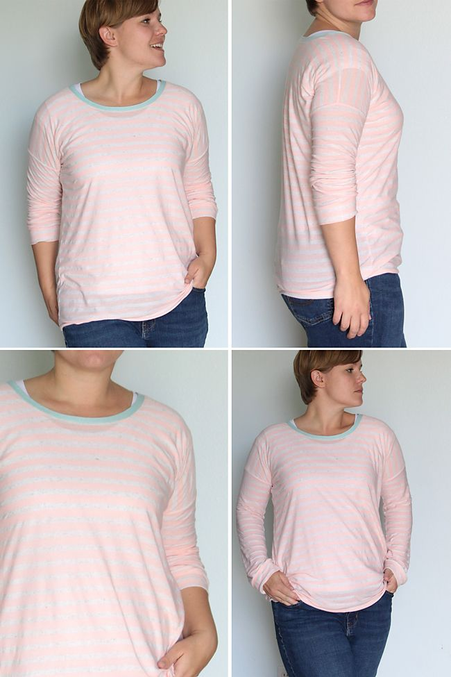 make a cute long sleeve tee with only 1 yard of fabric! link to free printable pattern included. from itsalwaysautumn.com