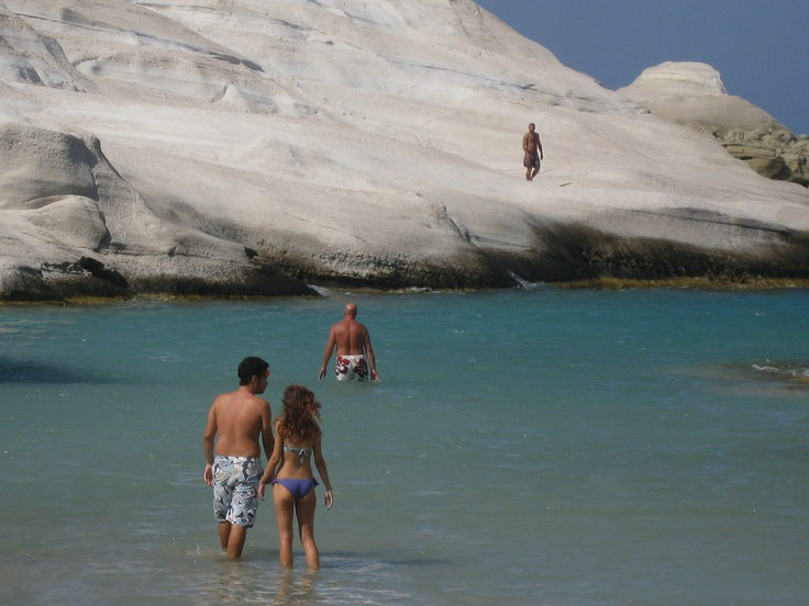 "A swim in ""Pavlova"" Bay, Milos, Greece"