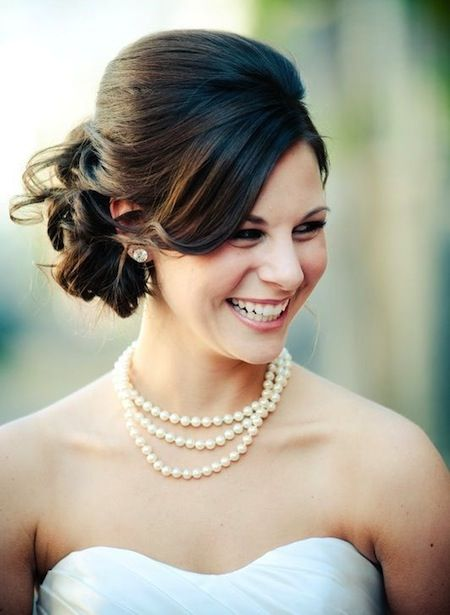 Retro Look with Volume and Swept Bangs - 20 Wedding Hairstyles for Women with Shoulder Length Hair – Medium Hairstyles & Cuts