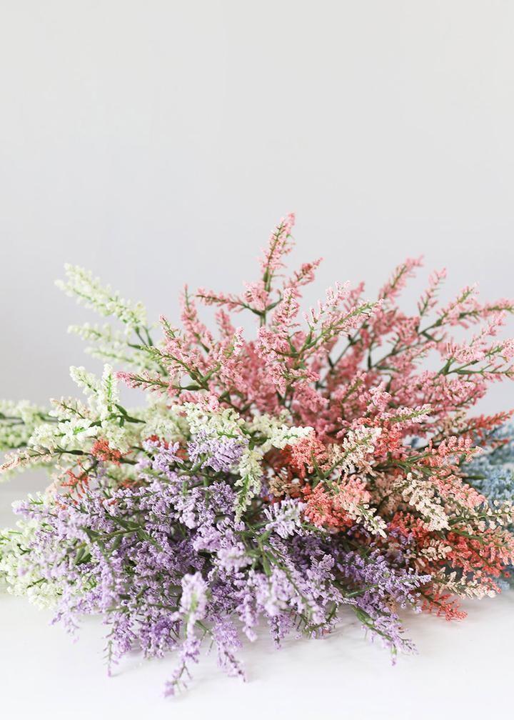 Artificial Astilbe Flower Bush In Pink In 2020 Astilbe Flower Long Stem Flowers Fake Flowers