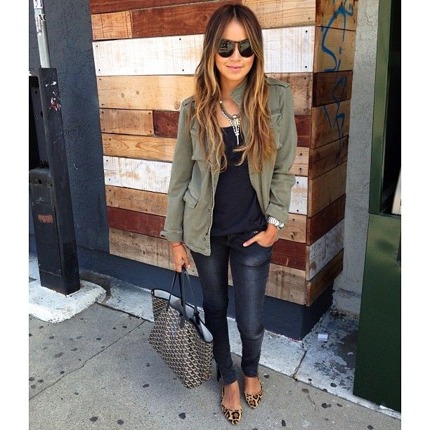 Back to basics in my favorite @ANINE BING jacket and jeans! ❤