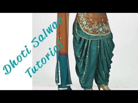 ♥ How to make a Dhoti Salwar ♥ - YouTube